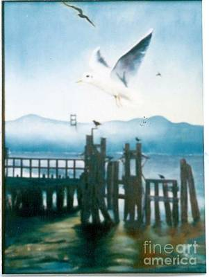 Painting - Seagulls By The Bay by Geri Jones