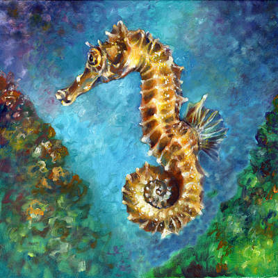 Abstract Stripe Patterns Rights Managed Images - Seahorse II Royalty-Free Image by Nancy Tilles