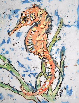 Painting - Seahorse by Norma Gafford