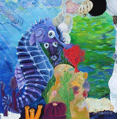 Seahorse Surprise Original by Lisa Kramer