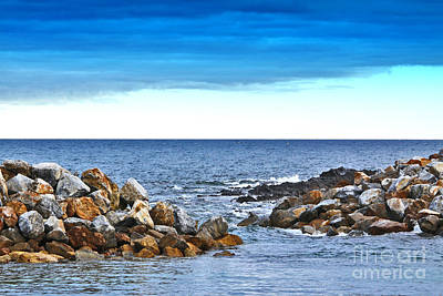 Photograph - Sealink Dock At Cape Jervis by Stephen Mitchell