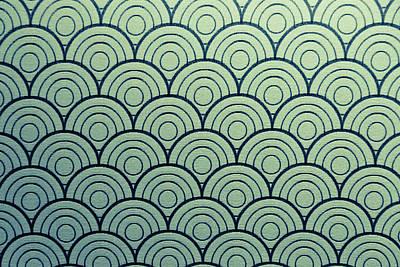 Seamless Wave Pattern Art Print by Hirokazu YAMANOUCHI