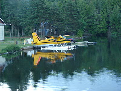 Mixed Media - Seaplane In Algonquin by Bruce Ritchie
