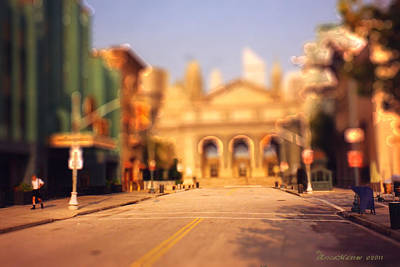 Art Print featuring the photograph Seaport Tiltshift by EricaMaxine  Price