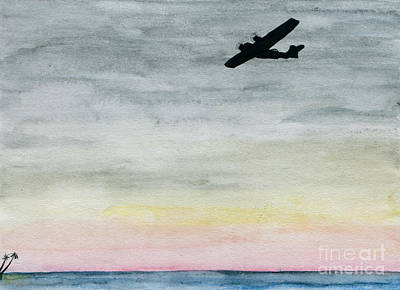 Searching The Tropics - Pby Catalina On Patrol Art Print by R Kyllo