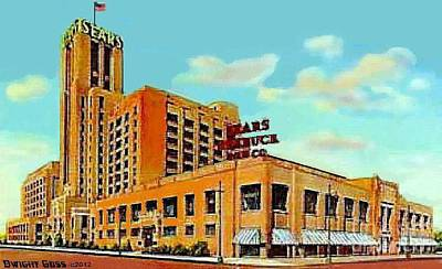 Painting - Sears And Roebuck Co. In Minneapolis Mn In 1958 by Dwight Goss