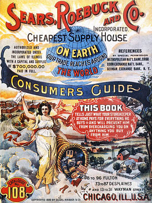 Cornucopia Photograph - Sears Catalog Cover, 1899 by Granger