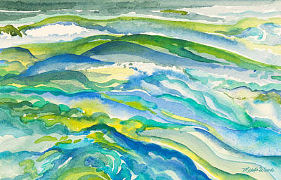 Painting - Seas In Motion Watercolor Painting by Michelle Wiarda