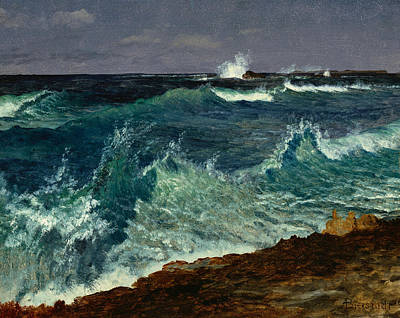 Seascape Print by Albert Bierstadt