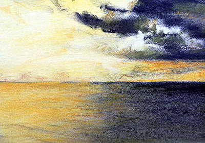 Seascape And Sky Art Print by Jon Shepodd