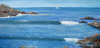 Painting - Seascape by Claudia Croneberger
