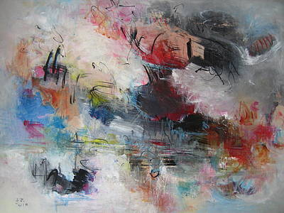 Red Painting - Seascape00030 by Seon-Jeong Kim
