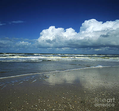 Clouds Over Sea Photograph - Seascape.normandy.france by Bernard Jaubert