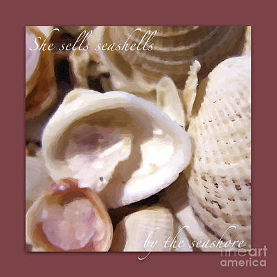 Photograph - Seashells On Berry Background by Heidi Hermes