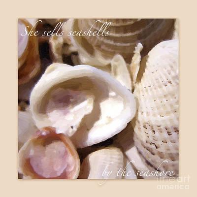 Photograph - Seashells On Sandy Background by Heidi Hermes