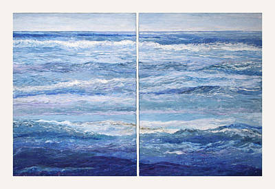 Seashore Diptych Art Print by Meg Black