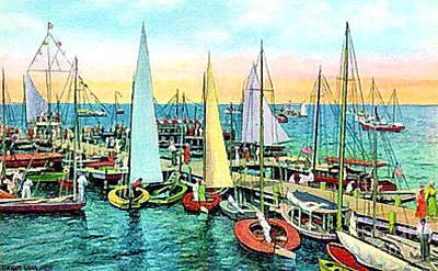 Painting - Seaside Park Yacht Club by Dwight Goss