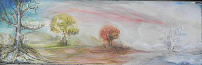 Painting - Seasons by Anne-D Mejaki - Art About You productions