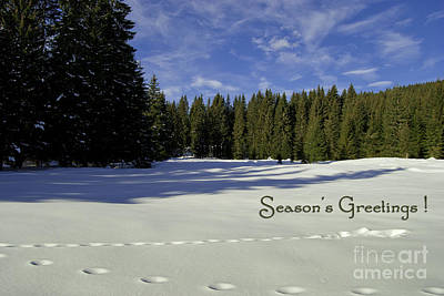 Season's Greetings Austria Europe Art Print by Sabine Jacobs