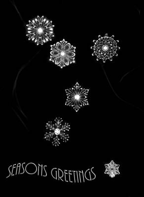 Photograph - Seasons Greetings Snowflake Card by Beverly Cash