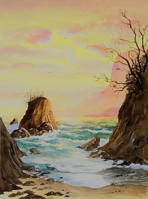 Painting - Seastack Sunset by Richard Mordecki