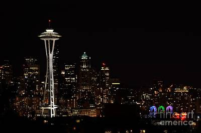 Photograph - Seattle At Night by Alan Clifford