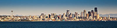 Photograph - Seattle Cityscape Panorama by Niels Nielsen