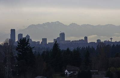 Photograph - Seattle From A Distance by Bruce Bley