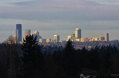 Photograph - Seattle From Distance by Bruce Bley