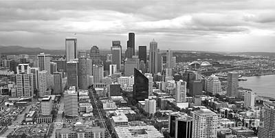 Photograph - Seattle In Black And White by Carol  Bradley
