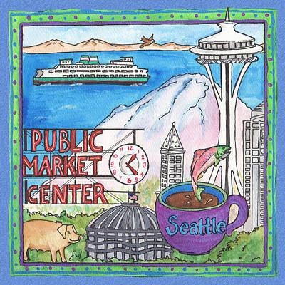 Seattle Montage Art Print by Pamela  Corwin