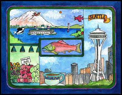 Corwin Painting - Seattle  by Pamela  Corwin