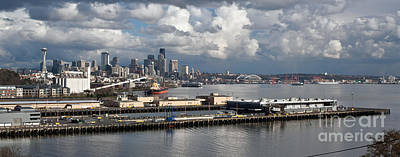 Grain Elevator Photograph - Seattle Pier View by Mike Reid