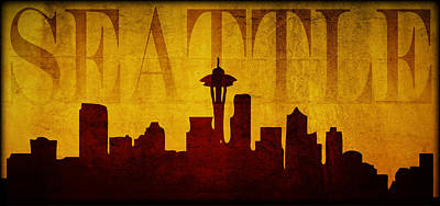 Wa Digital Art - Seattle by Ricky Barnard