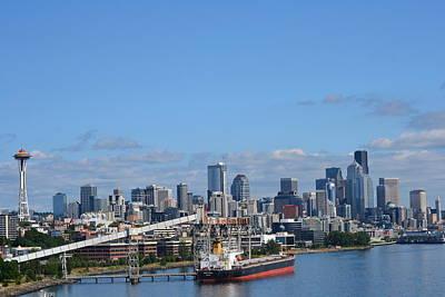 Seattle Skyline 1 Art Print
