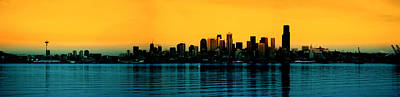 Seattle Skyline 2 Original by    Michaelalonzo   Kominsky