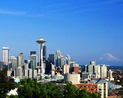 Seattle Skyline Art Print by Jack Moskovita
