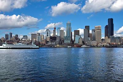 Seattle Skyline Art Print by Richard Leon