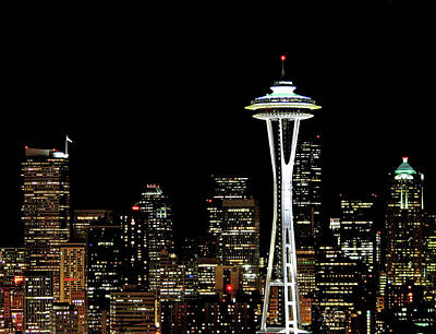 Seattle Skyline With Space Needle Art Print by Tim Ford