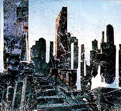 Seattle Skyline Mixed Media - Seattle...grunge...synonymous  by Dee Presser