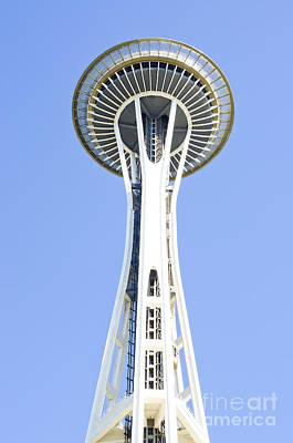 Photograph - Seattle's Space Needle by MaryJane Armstrong