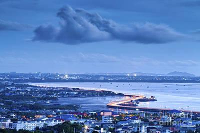 Seaview On Chonburi Town Original by Anek Suwannaphoom