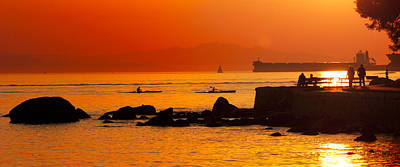 Vancouver Photograph - Seawall Silhouette by Matt  Trimble
