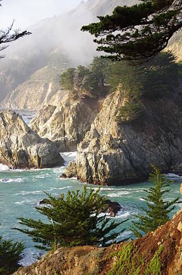 Secluded Big Sur Cove 1 Art Print by Jeff Lowe