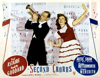 Second Chorus, Fred Astaire, Paulette Art Print