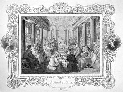 Second Council Of Nicaea Art Print by Granger