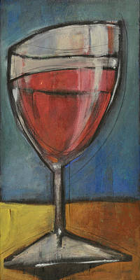 Stylized Beverage Painting - Second Glass Of Red by Tim Nyberg
