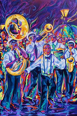 Sousaphone Painting - Second Line by Elaine Adel Cummins