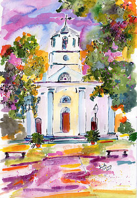 Second Presbyterian Church Charleston South Carolina Watercolor Art Print