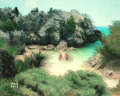 Digital Art - Secret Beach by Richard Stevens